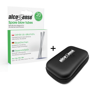AlcoSense Blow Tubes + Carry Case